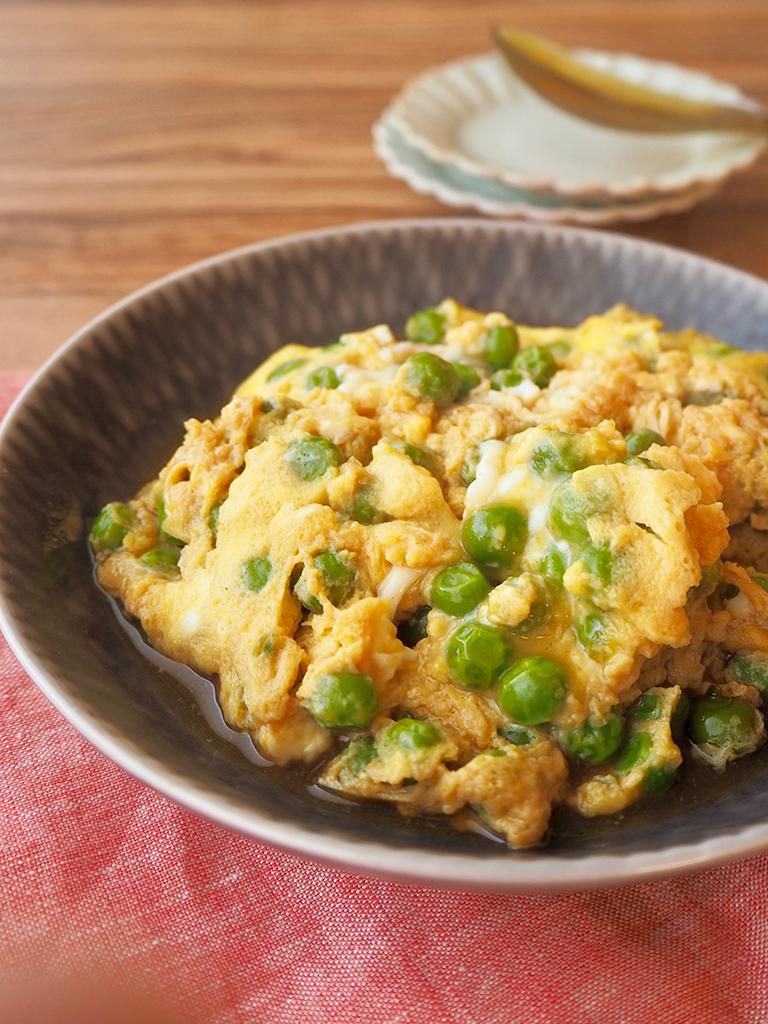 【STAY HOMEレシピ】グリーンピースの卵とじ