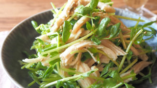 【STAY HOMEレシピ】サラダチキンと豆苗の和風サラダ