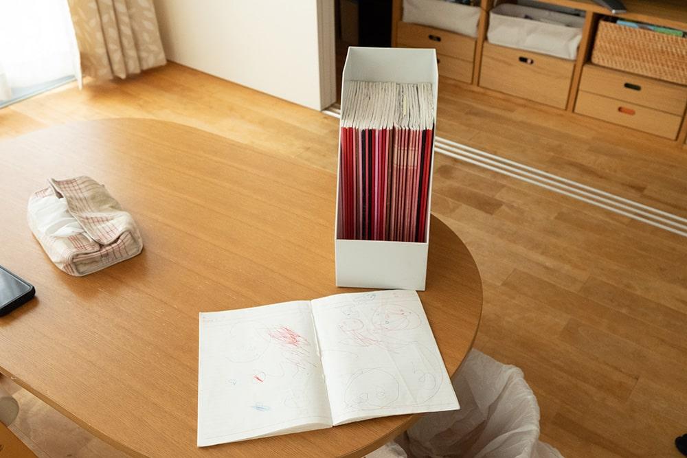 こちらは子どもの落書き帳。