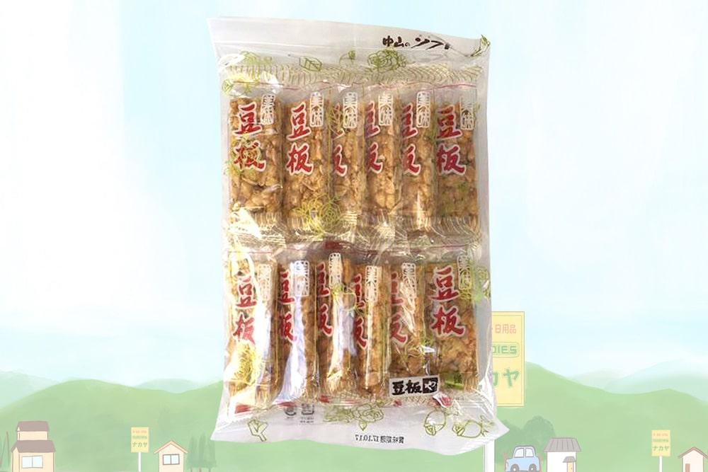 香ばしい落花生を優しい甘さの糖蜜で固めたシンプルなお菓子「豆板」。